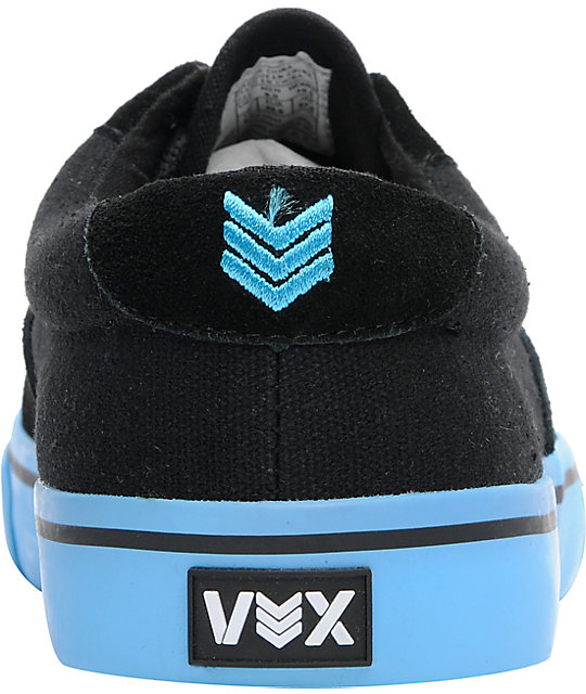 Vox Savey Black & Cyan Skate Shoes