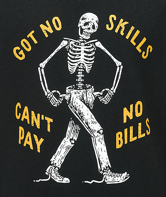 Washbeast No Skills Black T-Shirt