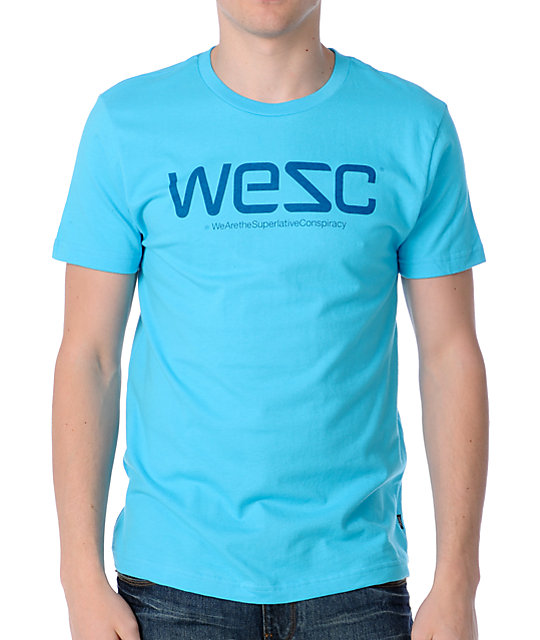 WeSC Blue Logo T-Shirt