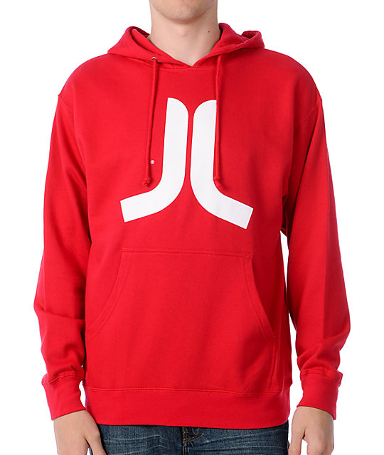 WeSC Icon Red Pullover Hoodie