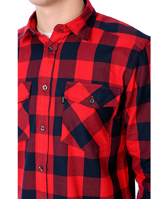 WeSC Miles Red Flannel Shirt