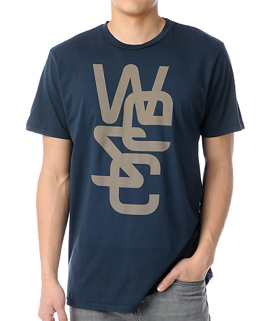 WeSC Overlay T-Shirt - Navy Wesc Sale Cheap Price Discount Visit New Cheap Price Original Free Shipping The Cheapest XcrUraY