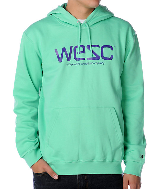 WeSC Pullover Green Hoodie