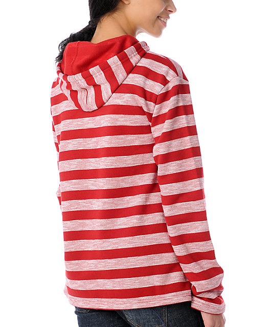 Wear Wash Repeat Red Stripe Poncho