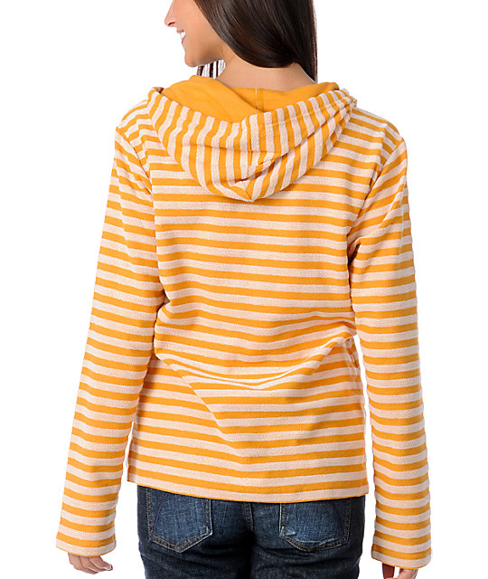 Wear Wash Repeat Yellow Stripe Poncho
