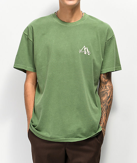 WeatherMTN Arch Washed Green T-Shirt