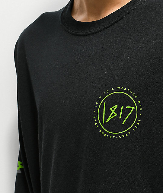 WeatherMTN x 1817 Black Long Sleeve T-Shirt