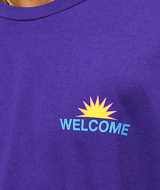 Welcome Away Team camiseta morada