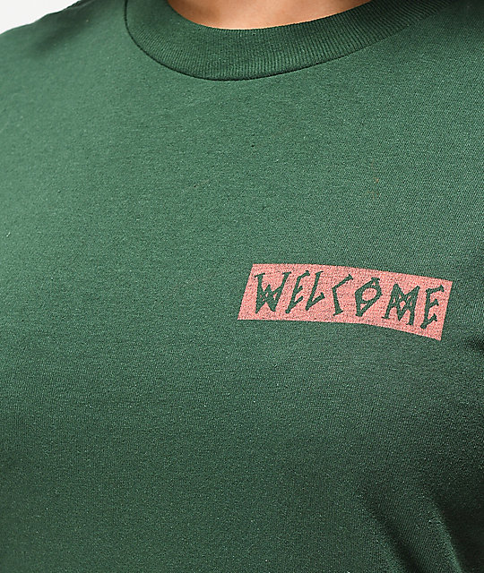 Welcome Halftone camiseta verde