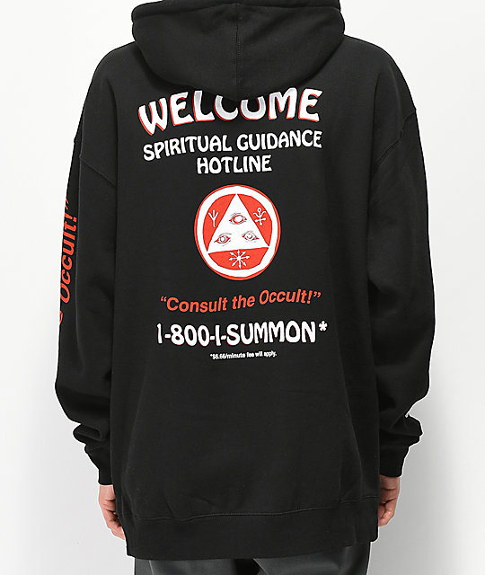 Welcome Hotline Black Hoodie