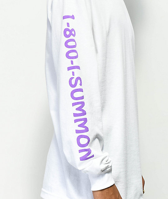 Welcome Hotline White & Purple Long Sleeve T-Shirt