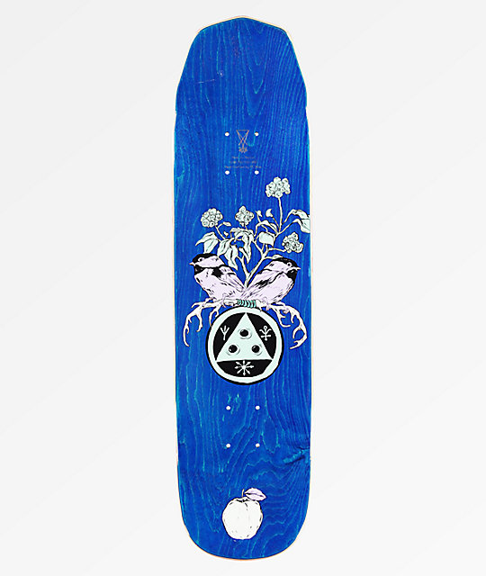 "Welcome Nora Fairy Tale On Wicked Mini 7.6"" Teal & Black Skateboard Deck"