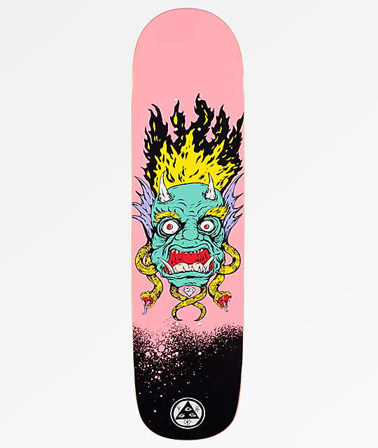 "Welcome Old Nick On Bunyip 8.0"" Pink Skateboard Deck"