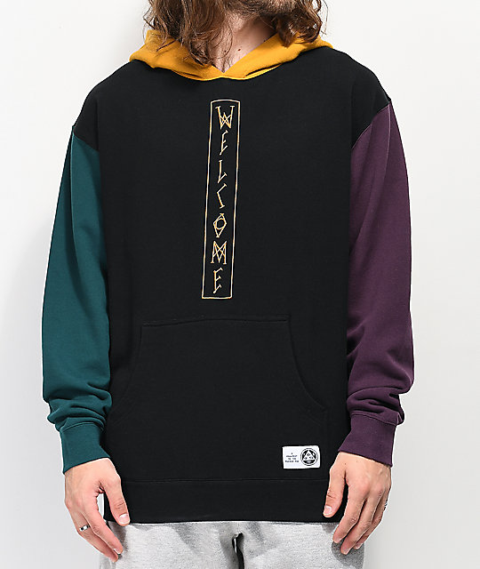 Welcome Quadrant Black & Gold Hoodie