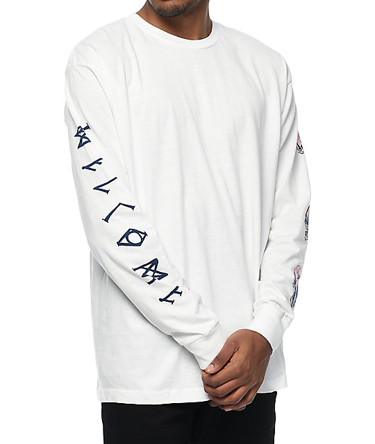 Welcome Sapien White Long Sleeve T-Shirt  99c35a76829
