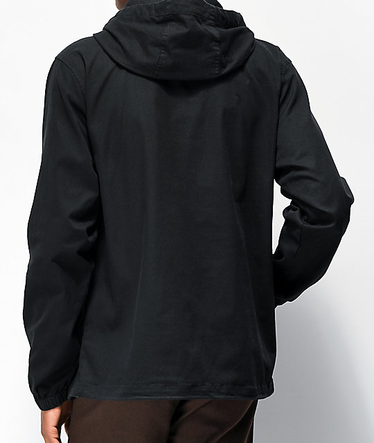Welcome Scrawl Black Anorak Jacket