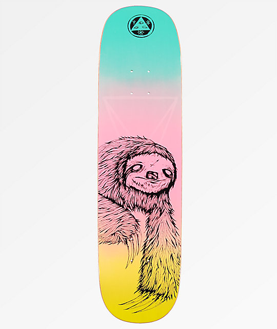 "Welcome Sloth On Amulet 8.125"" Rainbow tabla de skate"