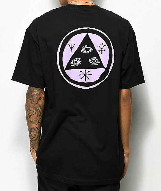 Welcome Talisman Black & Lavender Black T-Shirt