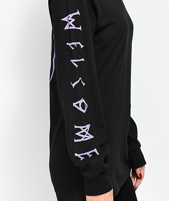 Welcome Talisman Black & Purple Long Sleeve T-Shirt