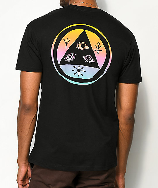 Welcome Talisman Black & Rainbow T-Shirt
