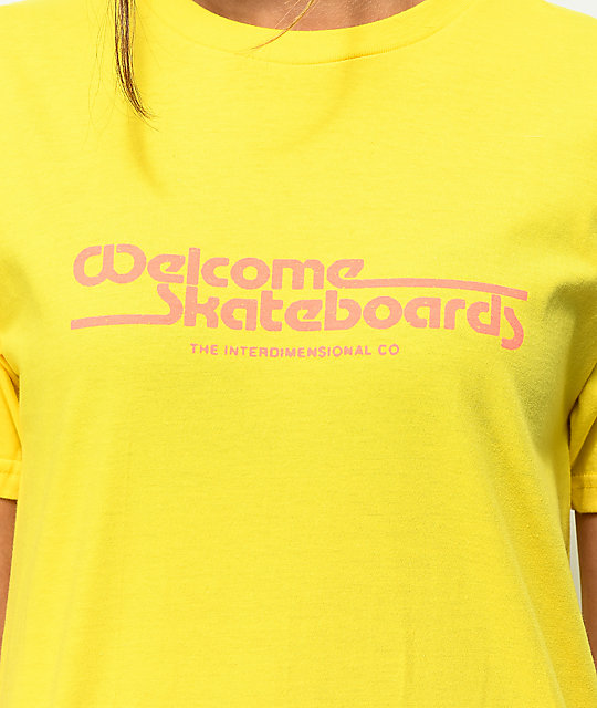 Welcome Wormhole Yellow T-Shirt