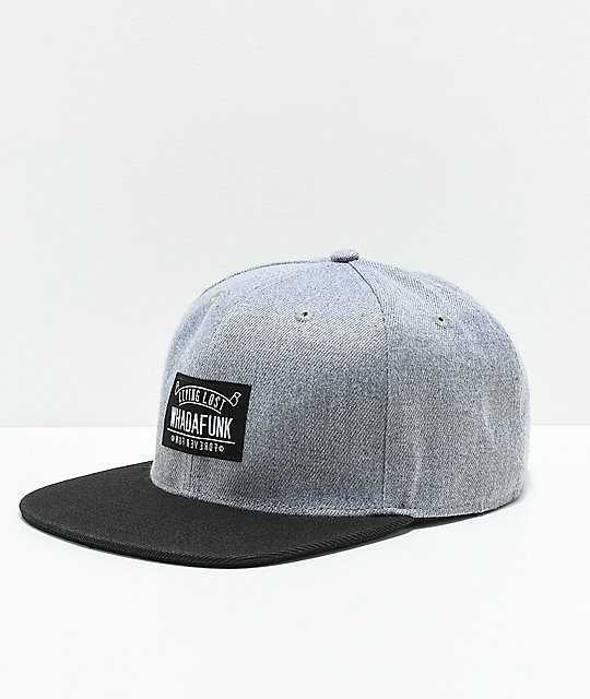 Whadafunk Living Lost Grey & Black Snapback Hat
