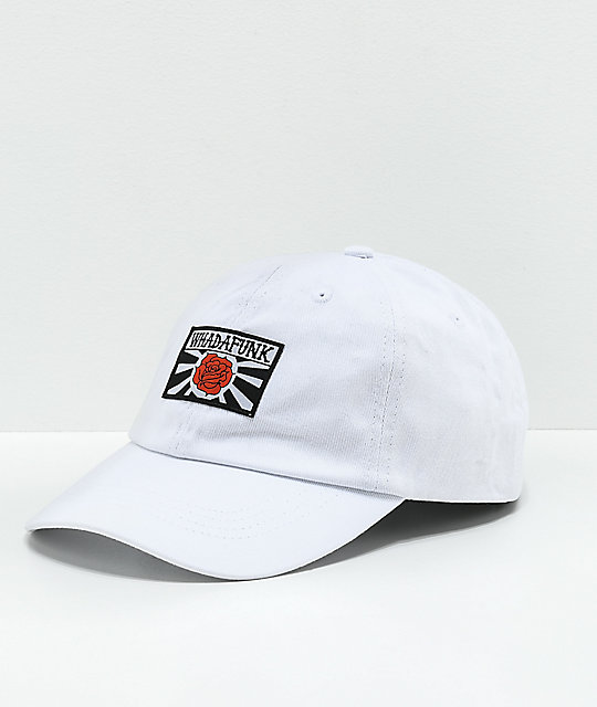 Whadafunk Red Rose White Strapback Hat