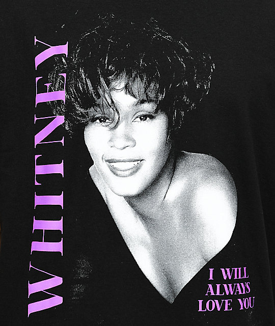 Whitney Houston Black T-Shirt