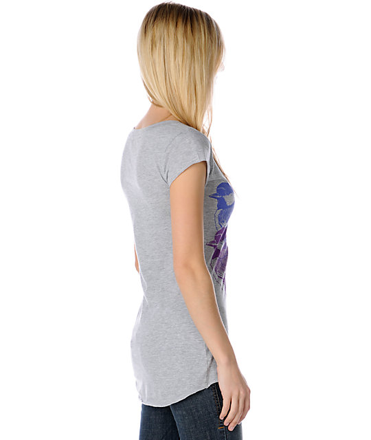 Word Of Mouth Three Birds Grey Top