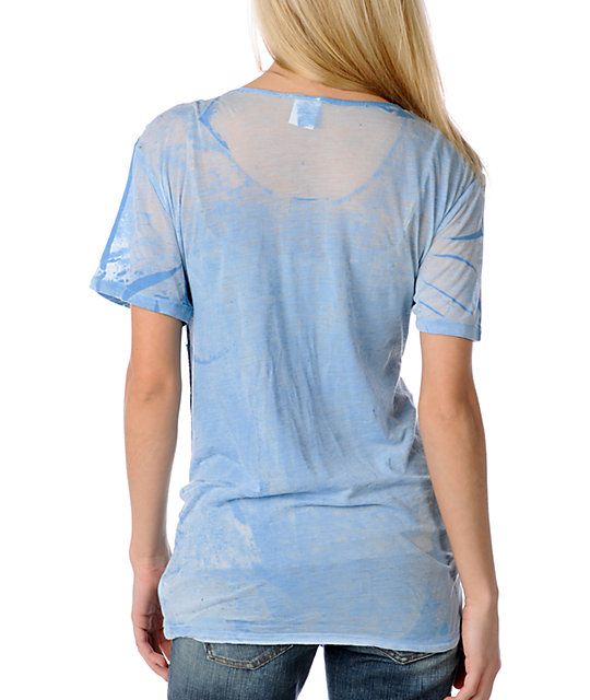 Word of Mouth Young & Restless Burnout Blue Top