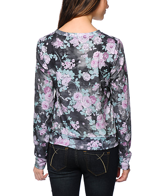 Workshop Forever Yours Floral Sublimated Crew Neck Sweatshirt