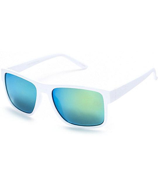 Gafas Blanco De TurquesaZumiez En Color Y Wrap Sol Espejos doWerCxB