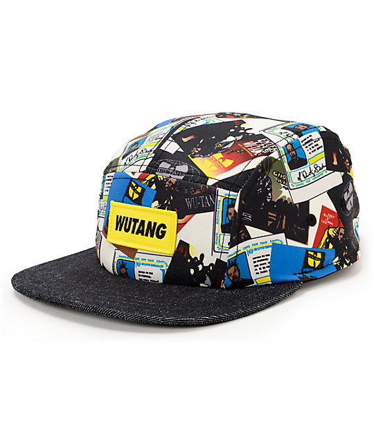 ae03cb233f18e Wu-Tang Discography White   Navy 5 Panel Hat