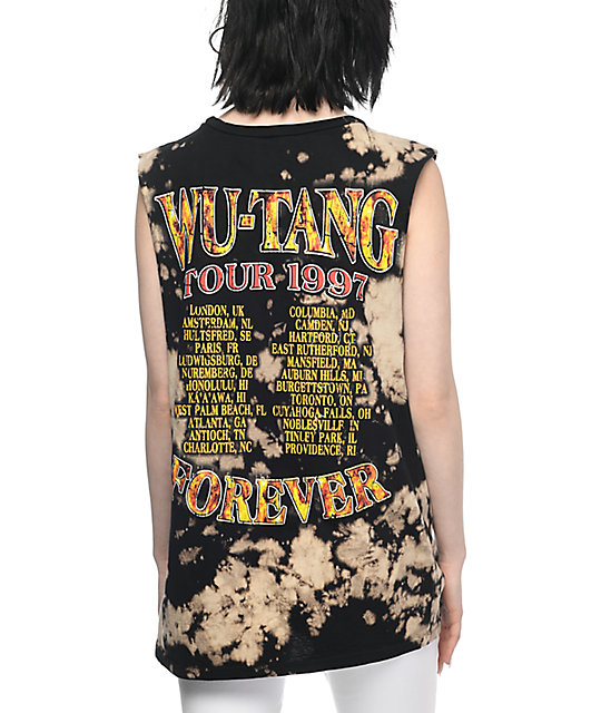 Wu-Tang Forever Bleached Muscle Tank Top