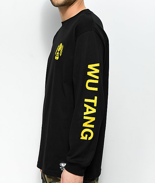 Wu Wear Chessboxin' Black Long Sleeve T-Shirt