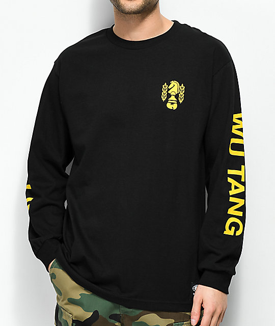 black and yellow long sleeve shirt