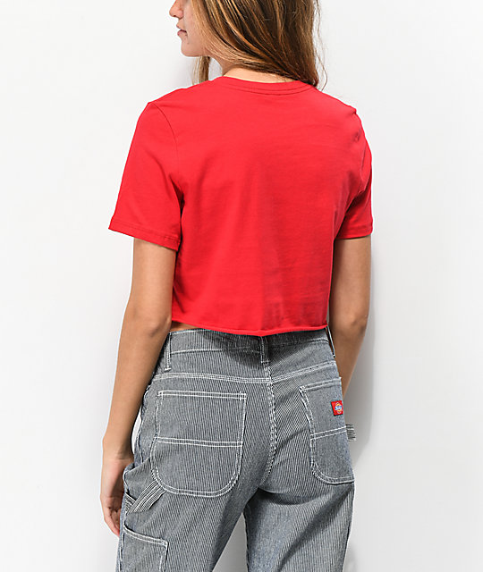 Wu Wear Grains Red Crop T-Shirt