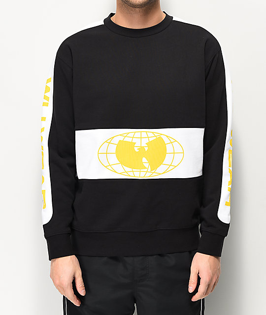 Wu Wear Racer Black Crew Neck Sweatshirt