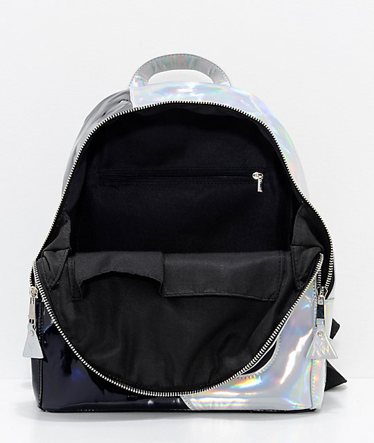 b87dba9cce ... Y.R.U. Yin Yang Black   Silver Backpack ...