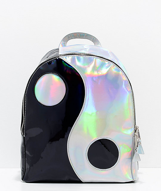 Y.R.U. Yin Yang Black & Silver Backpack