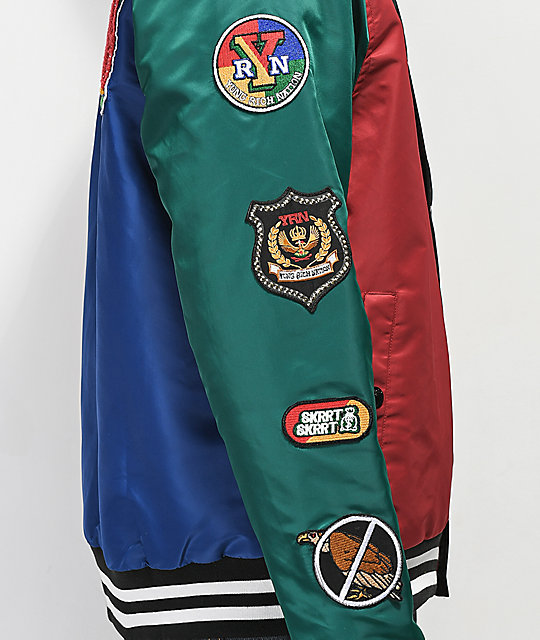 YRN College Block Varsity Jacket