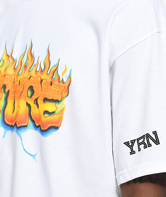 YRN Culture On Fire camiseta blanca