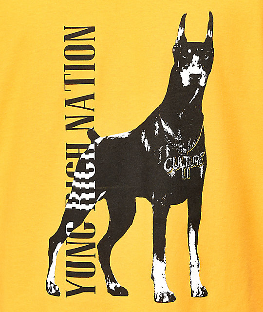 YRN Doberman Gold T-Shirt