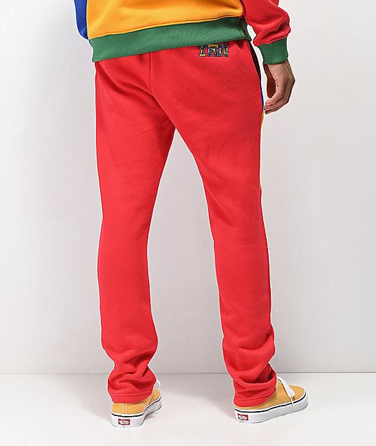YRN Finesse On Ten Red, Orange, Blue & Green Sweatpants
