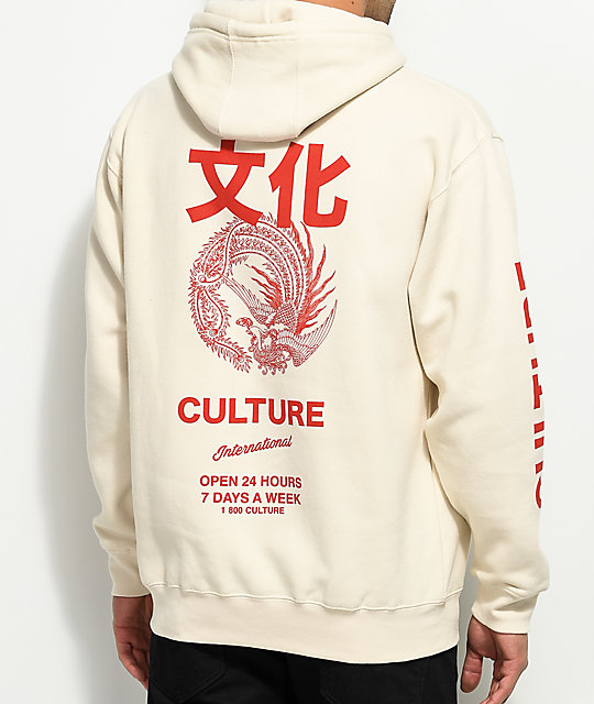 YRN International Culture Cream Hoodie