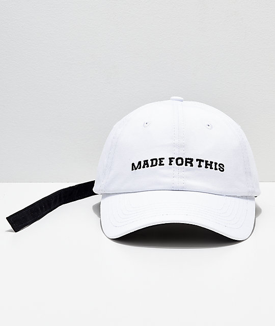 YRN Made For This White Strapback Hat