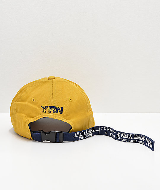YRN Made For This Yellow Strapback Hat