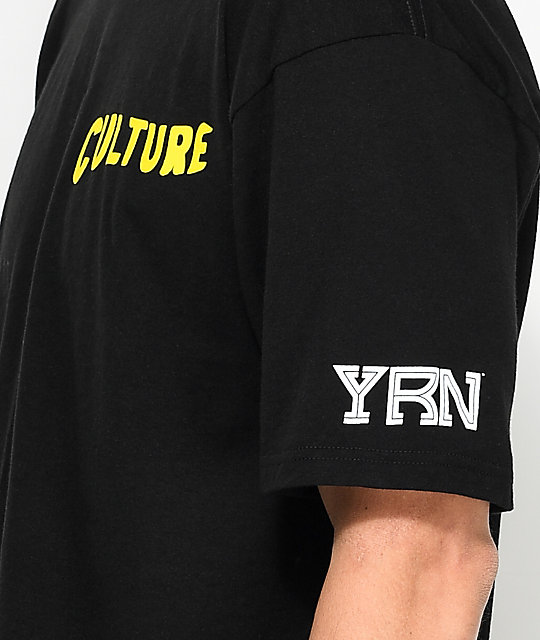 YRN Raindrop Drop Top Black T-Shirt