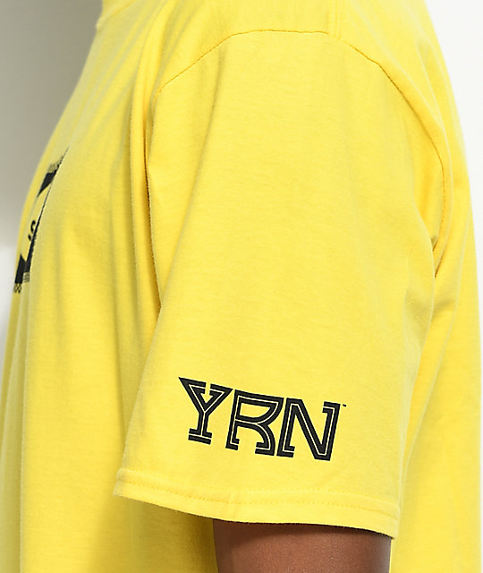 YRN Slippery camiseta en color amarillo