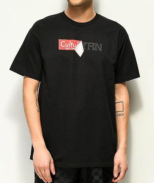 YRN Sticker Peel Black T-Shirt